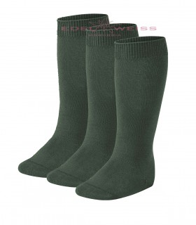 CALCETINES ALTOS LISOS PACK3 310-VERDE